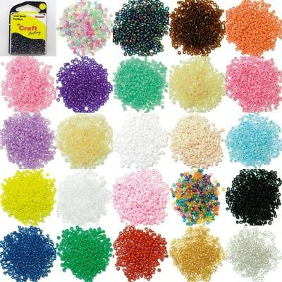 24 COLOUR 2mm Glass Seed Beads 15g Small Round Jewellery BUY 1 2 Clear Packs