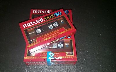 MAXELL UDII 90 (×5) : 1985 : Made in Japan : NEW & SEALED
