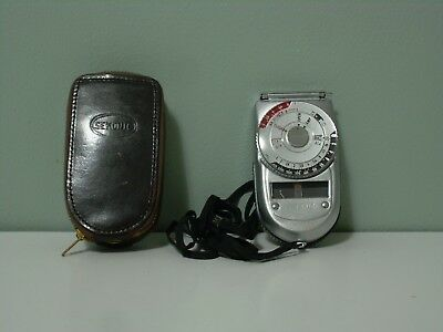 Vintage Sekonic Light Meter with Strap and Leather Case, made in Japan