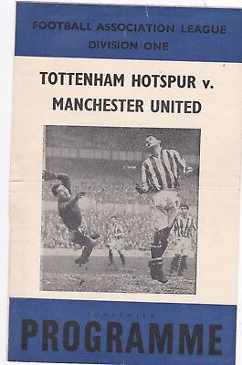 "SPURS v MANCHESTER UNITED MID 50'S ""PIRATE""ISSUE"