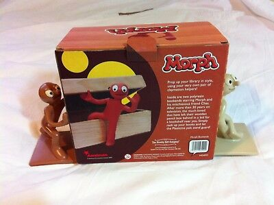 Morph & Chas Book Ends & Box. Tony Hart- Hartbeat. 16cm tall Polyresin VGC