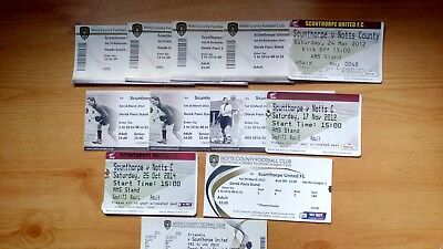 12 x Scunthorpe United v Notts County Tickets .. Most Excellent