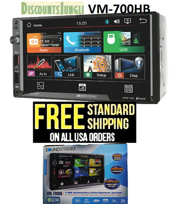 Soundstream Double Din VR-651B DVD/CD/MP3 Player 6.5 LCD Touch Screen Bluetooth