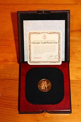 1976 Canada Olympic $100 22k Gold Proof Coin