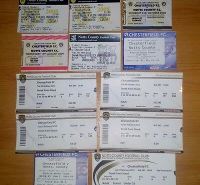 12 x Chesterfield FC v Notts County Tickets. Most Excellent