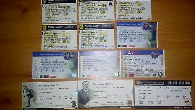 12 x Shrewsbury Town v Notts County Tickets. All Excellent