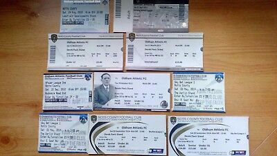 10 x Oldham Athletic v Notts County Tickets. Most Excellent