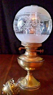 """Vintage Brass oil/electric  lamp.15"""". Tall ."""