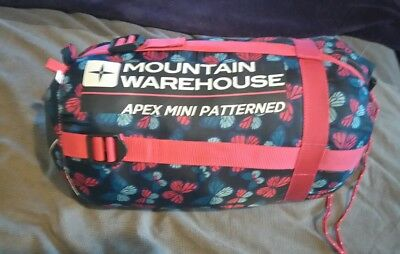 Mountain Warehouse Apex Mini Patterned Sleeping Bag Large - Butterfly Pattern