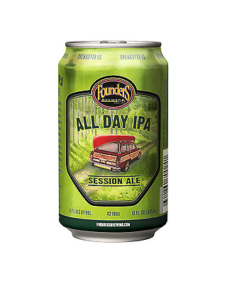 Founders All Day Session India Pale Ale 355mL Cans case of 12 Craft Beer