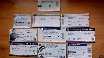 10 x Colchester United v Notts County Tickets .. Most Excellent