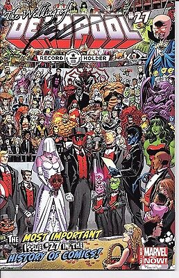 Marvel Comics DEADPOOL #17 Wedding of Deadpool SIGNED Rob Liefeld