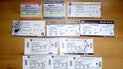 12 x Stevenage FC v Notts County Tickets .. All Excellent