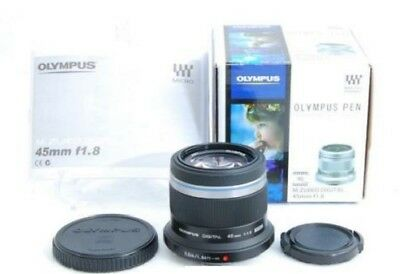 OLYMPUS 45mm F1.8 M.ZUIKO DIGITAL 45mm F1.8 LENS Black First Shipping Japan New