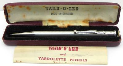 Vintage Solid Silver Yard O Led Propelling Pencil, London 1956.