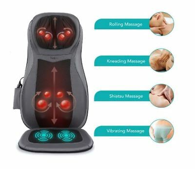 Naipo Shiatsu Neck Full Back Thigh Heated Massage Car Seat Cushion Body Chair