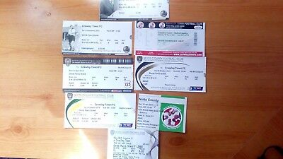 8 x Crawley Town v Notts County Tickets ... Most Excellent