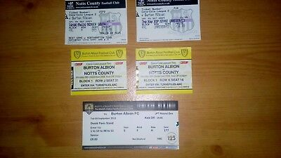 5 x Burton Albion v Notts County Tickets .. All Excellent