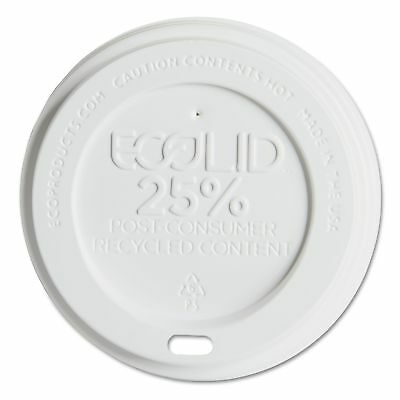 Eco Products EP-HL16-WR 10-20 oz White EcoLid® Hot Cup Lids 24% Recycled 1000 CT