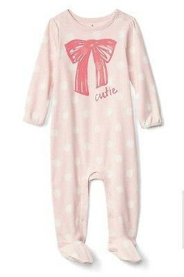 bcdbd76c9 BABY GAP GIRL Star Velour Footed One Piece Romper Bodysuit Pink Size ...