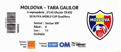 Rare Ticket Moldova vs. Wales  05.09.2017  Qualify World Cup 2018