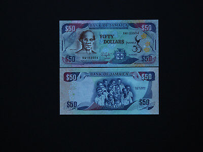 JAMAICA BANKNOTES  $50  GREAT COMMEMORATIVE ISSUE  -  p89  DATE  2012  MINT UNC