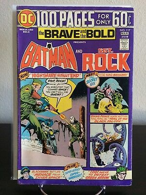 Brave and the Bold #117 Batman and Sgt Rock 100 page Jim Aparo 1975