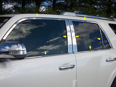 For 2010-2017 TOYOTA 4RUNNER 4-door, SUV 14 PC SS Window Trim Package