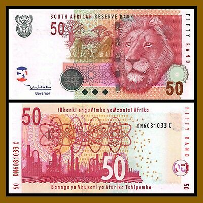 South Africa 50 Rand, ND 1999 P-125c Lion Unc