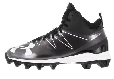 Brand New Under Armour Youth Hammer Mid RM JR. Black/White 1269735001
