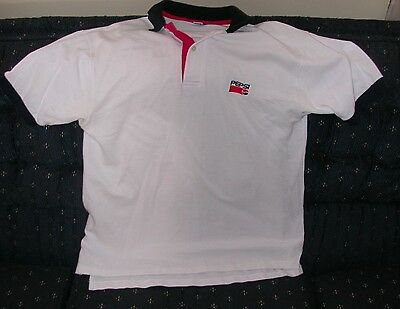 Mens White Large Pepsi Pull Over Shirt