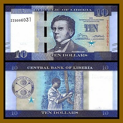 Liberia 10 Dollars, 2016 P-32 Replacement ZZ Unc