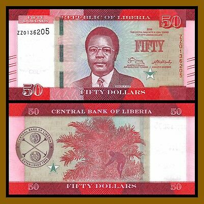 Liberia 50 Dollars, 2016 P-34 Replacement ZZ Unc