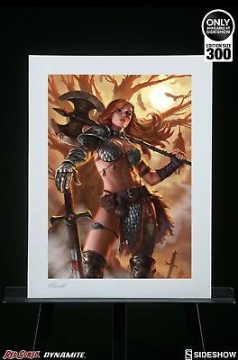 Sideshow Collectibles Exclusive Red Sonya Premium Art Print Unframed.
