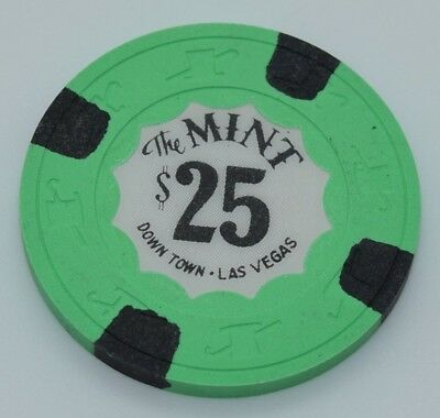 The Mint $25 Casino Chip Las Vegas Nevada H&C Paulson 1990's FREE SHIPPING
