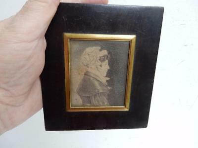 really old ANTIQUE MINIATURE portrait of a lady