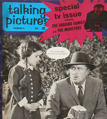 Vintage 1964 Addams Family & Munsters TALKING PICTURES Magazine Book TV Issue #2