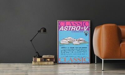 """Large Size 24""""x32"""" Astro-V Slot Car Poster - Classic Industries Promotional"""