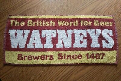 (Look) Watneys beer bar pub cloth towel game room man cave