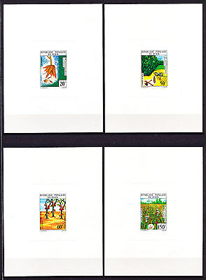 Deluxe 161 Benin 1971 Full Set Flora Agriculture Proof Imperf Mnh
