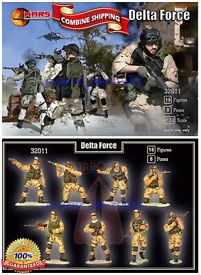 Mars Figures 32011 Delta Force US Army Soldiers (15 figures / 8 poses)  kit 1/32