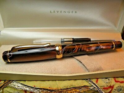 Rare Levenger, New/Boxed, Dual Tone B, Beautiful Color, Substantial, 5 1/2""