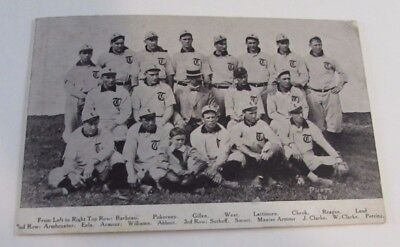 Antique Toledo Mud Hens Baseball Team Postcard Identified Players Ohio
