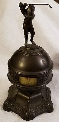 Vintage Antique Thermo-Dial Golf Art Thermometer C.1910 Scarce Rare Golfer
