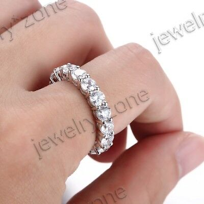 Wholesale Lots Silver 16 Grains Flawless Cubic Zirconia Engagement Band Ring Hot
