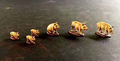 WELL PAINTED 28mm Pig set (Lot 627)