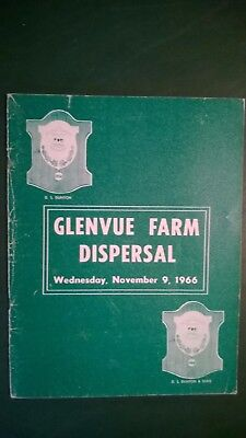 Glenvue Farm Holstein Dispersal Sale Catalog 1966 Canada - D.s. Dunton & Sons