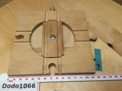 Small 4 Way Turntable - Wooden Train Track (BRIO, Thomas etc)
