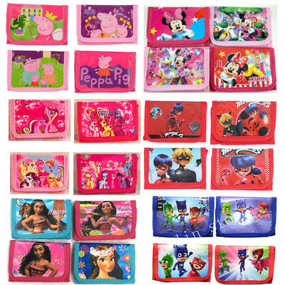 Peppa Pig PJ Mask Coin Purses Money Pouch Bags Boys Girls Wallets Party Birthday