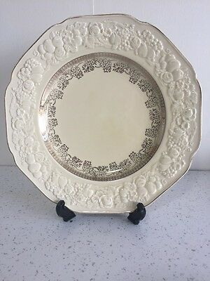 Crown Ducal gold rimmed Florentine cake Plate.
